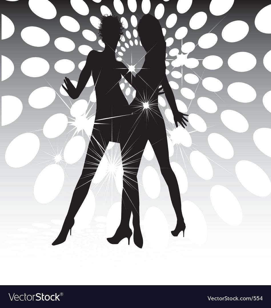 Dance floor lights vector image