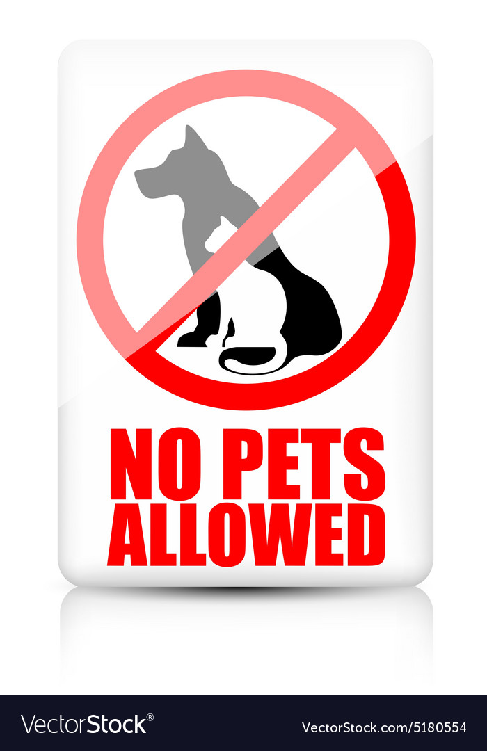 No pets allowed sign vector image