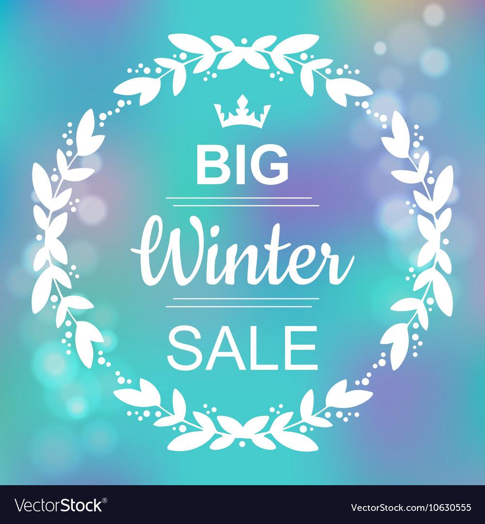 Big Winter Sale Banner vector image