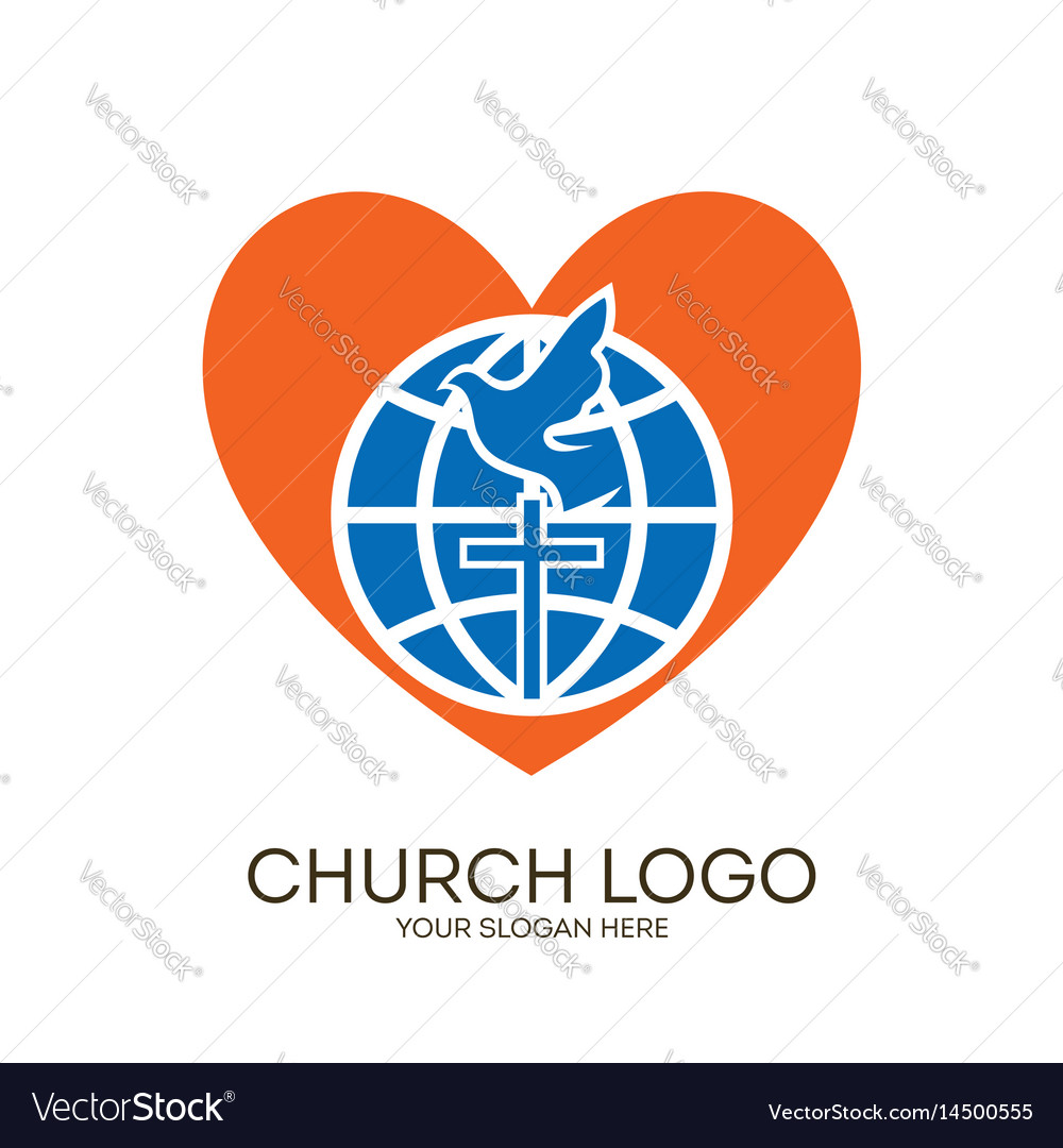 Globe cross dove and heart royalty free vector image globe cross dove and heart vector image thecheapjerseys Gallery