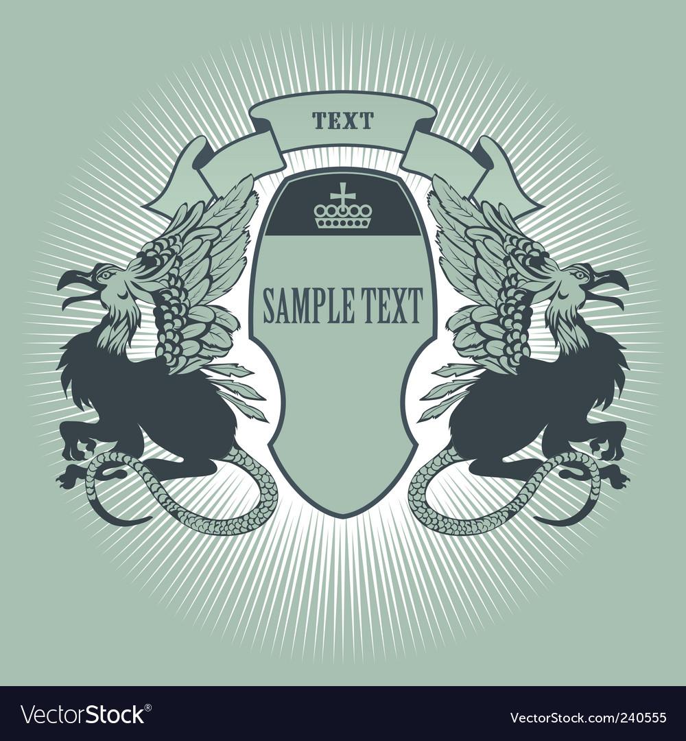 Heraldic badge vector image
