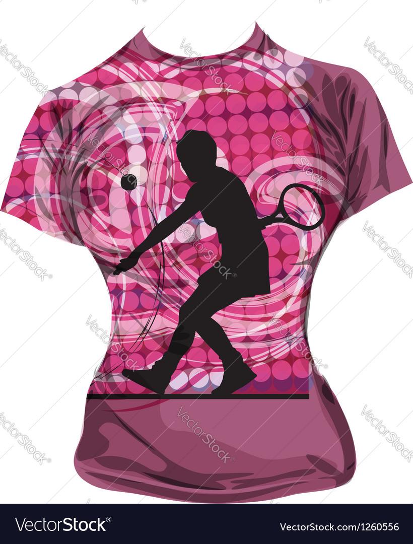 Tennis T-shirt vector image