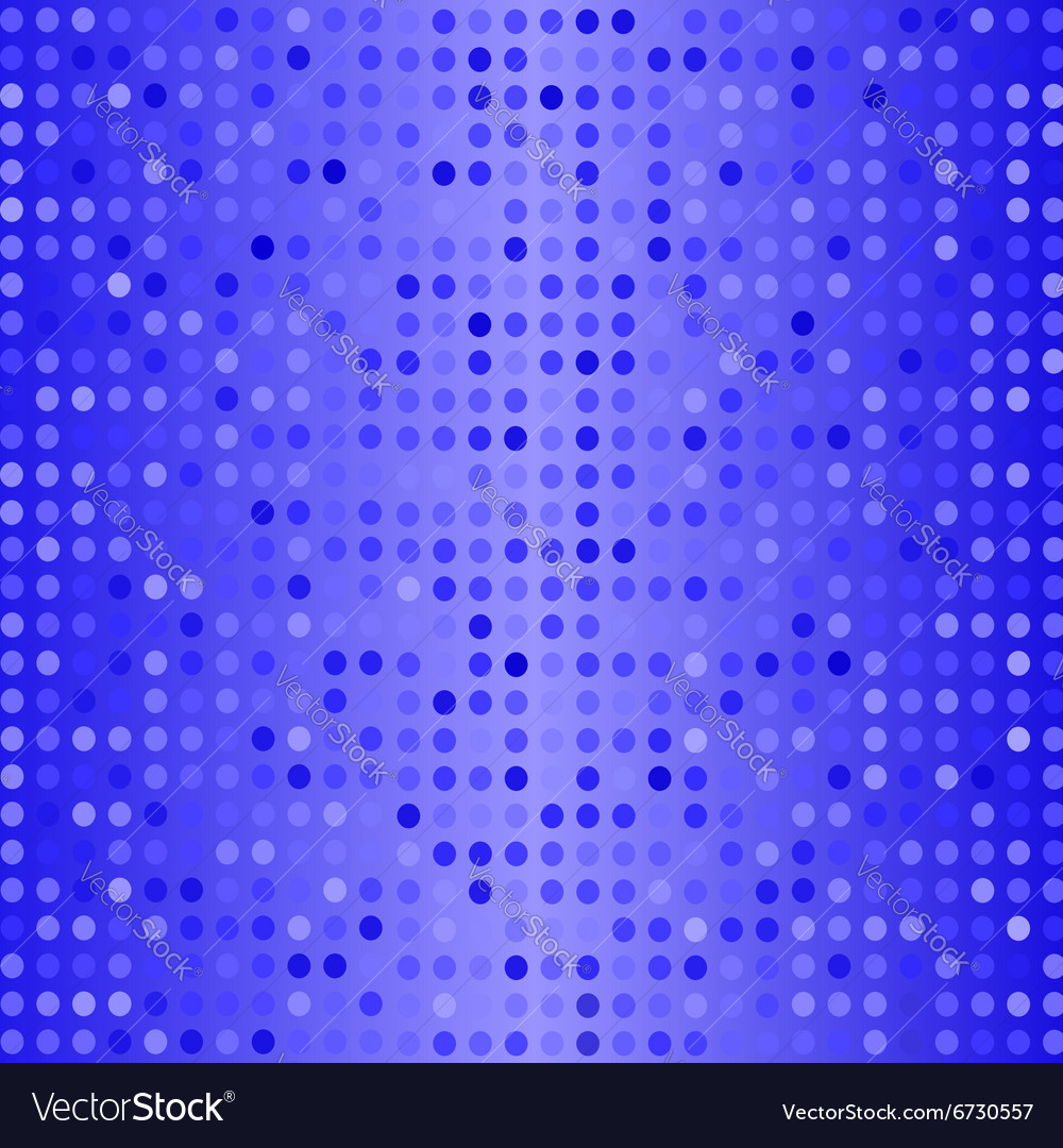 Dots on Blue Background Halftone Texture vector image