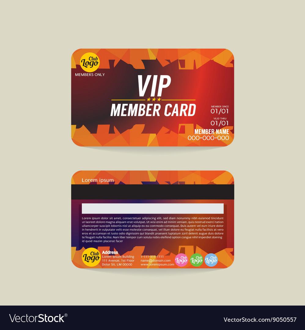 membership card template free