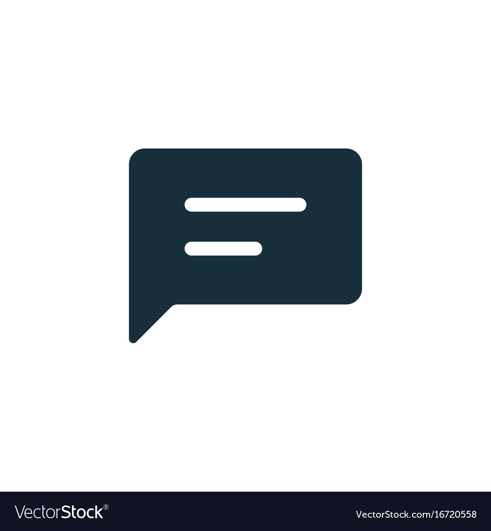 Chat speech comment chatting icon vector image