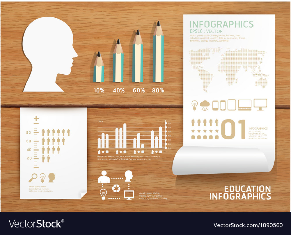 Infographics set and Information education vector image