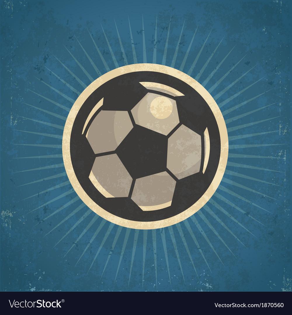Retro Soccer Ball vector image