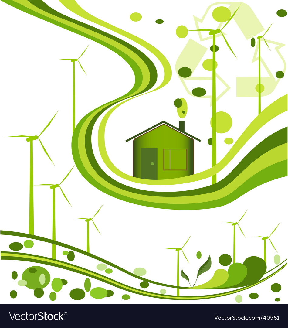 Wind farm background vector image