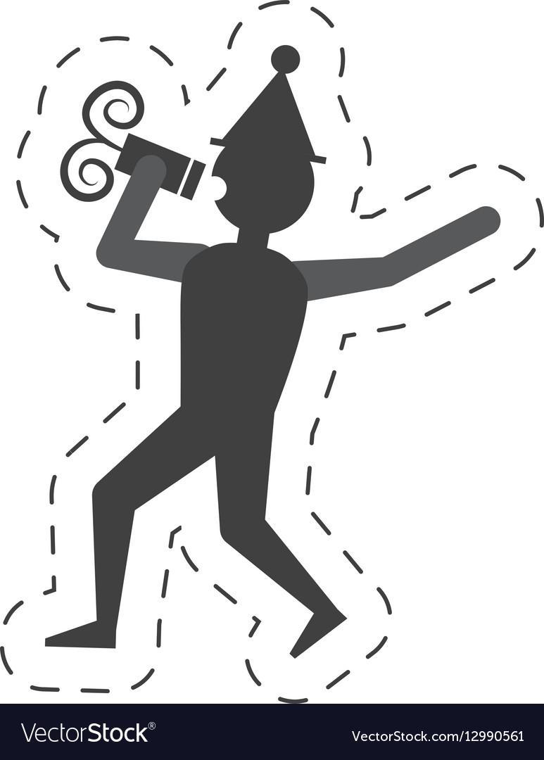 Man drink wine icon design vector image