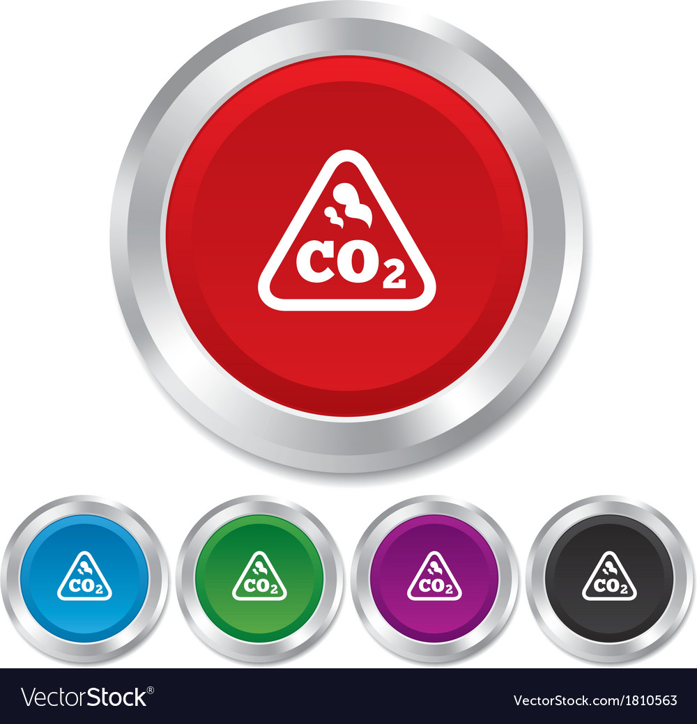 Co2 carbon dioxide formula sign icon chemistry vector image buycottarizona Images