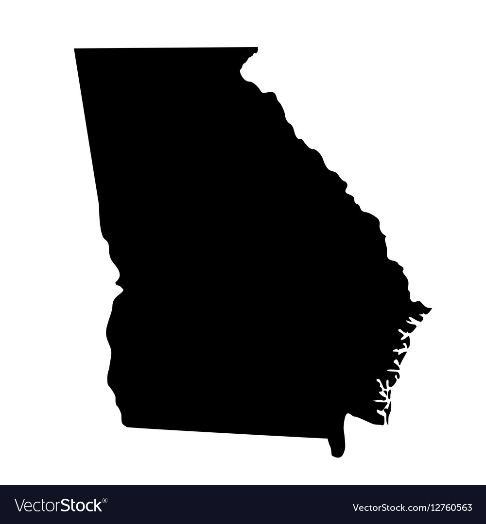 Map of the US state Georgia vector image