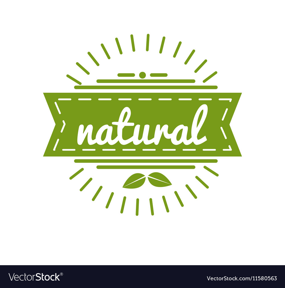Organic Product Guaranteed Label or Badge vector image