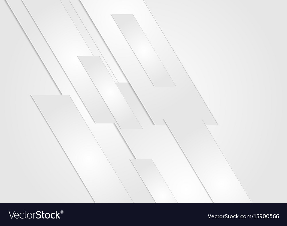 Abstract grey technology geometric background vector image