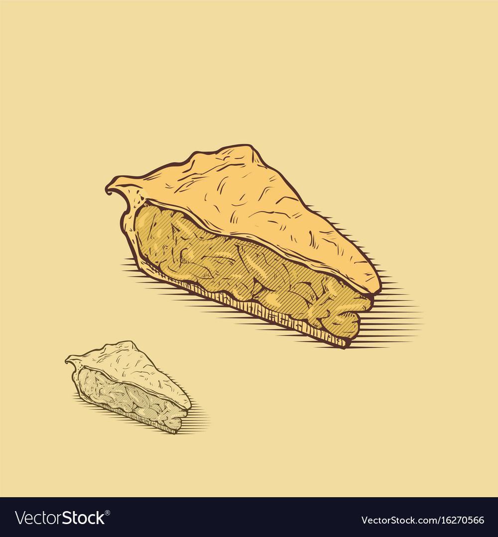 American apple pie vector image