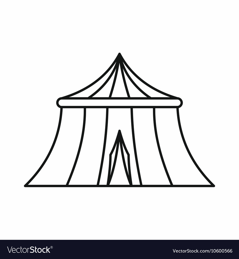 Circus tent icon outline style vector image  sc 1 st  VectorStock & Circus tent icon outline style Royalty Free Vector Image