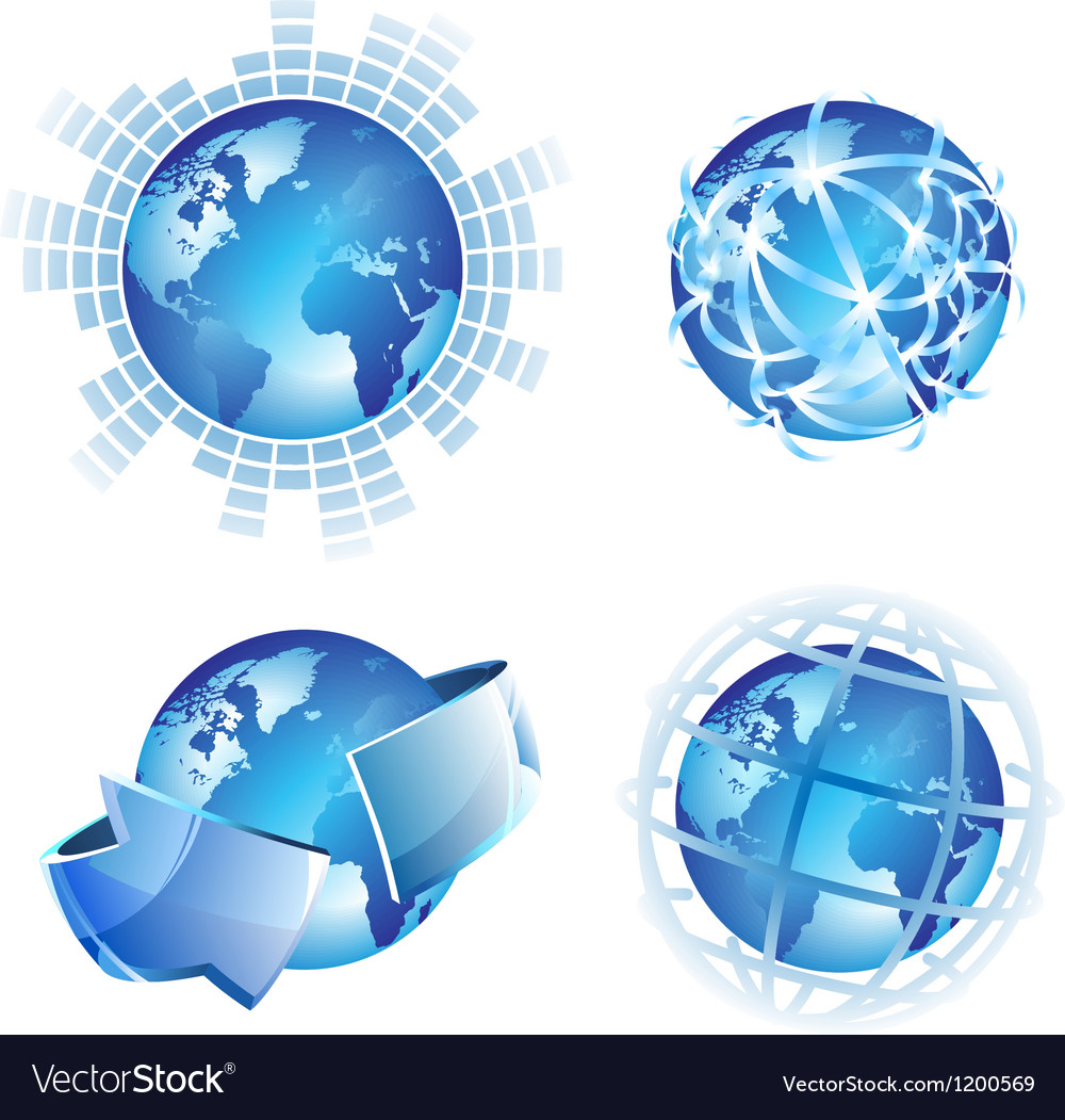 Global concepts vector image