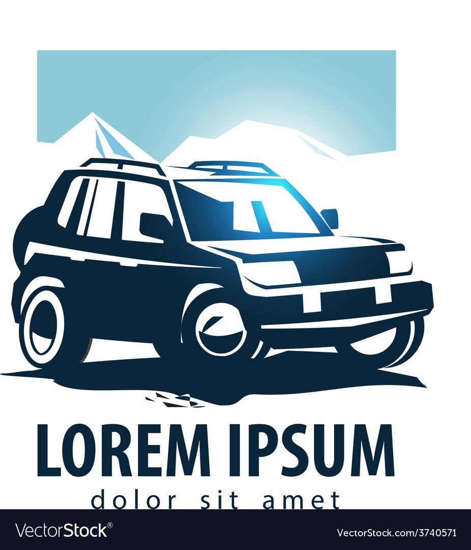 Car Logo Design Template Suv Or Transport Vector Image
