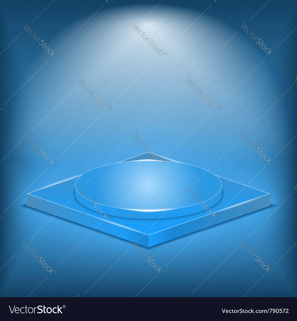 Blue stage vector image