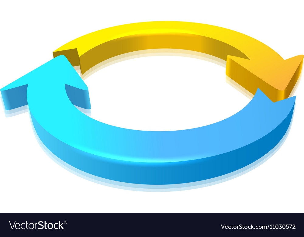 Circular Arrow 3D vector image