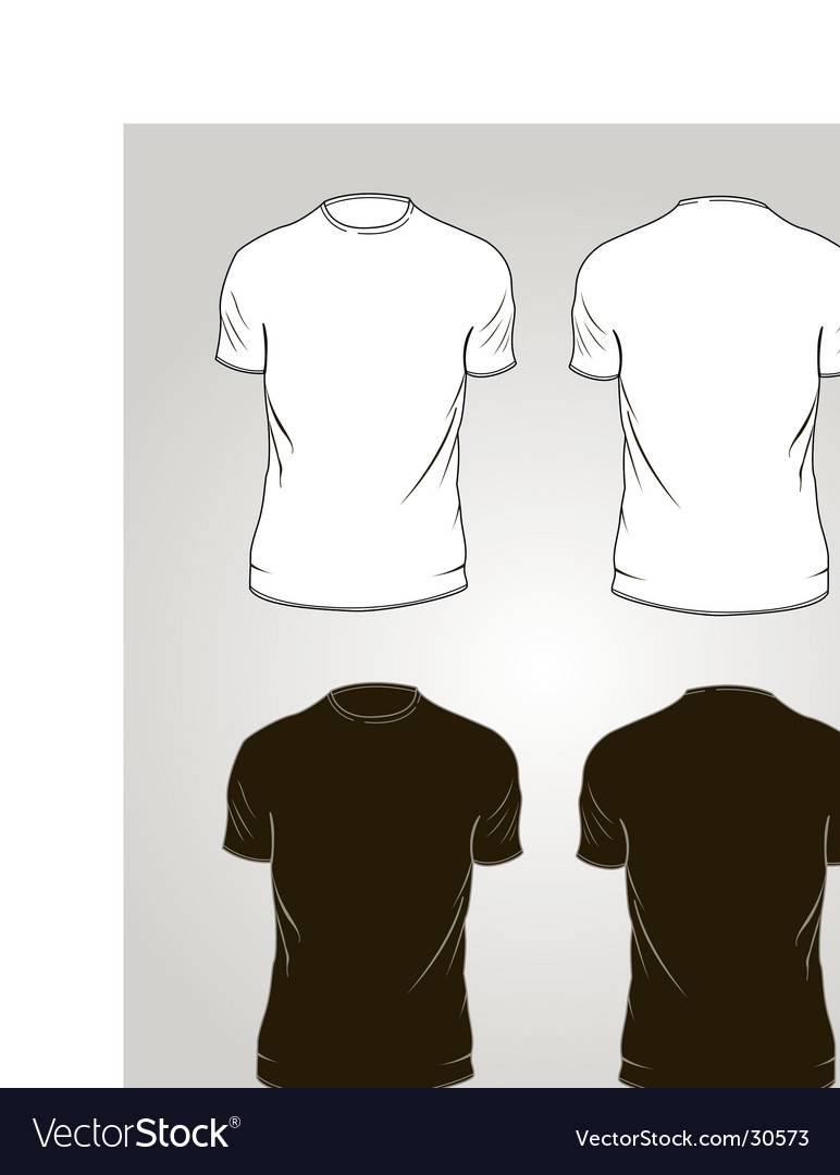 Tee-shirt outlines Vector Image