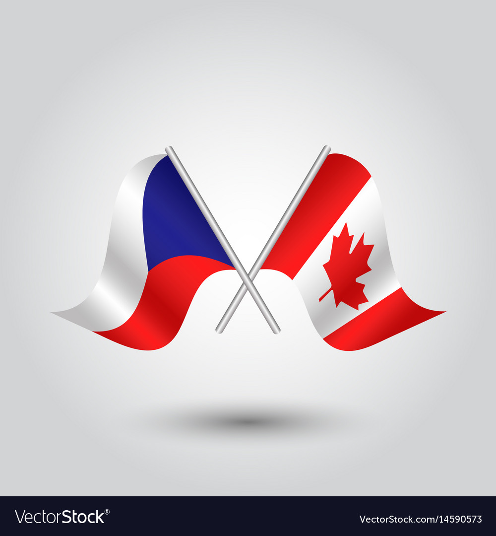 Icon of czech republic and canada vector image