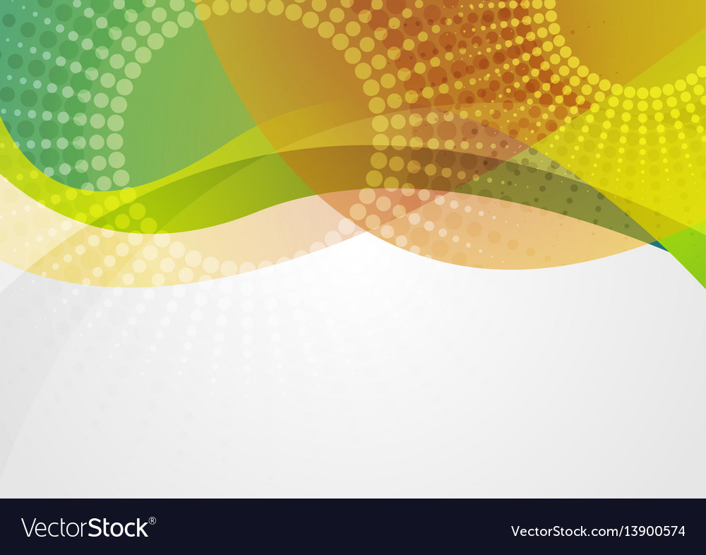 Abstract colorful waves with halftone circles vector image