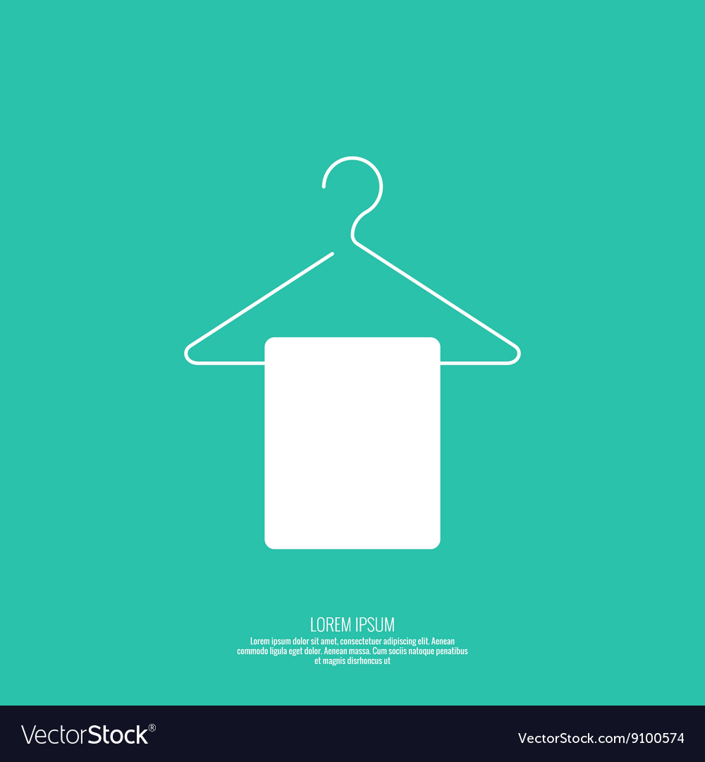 Icon hanger vector image