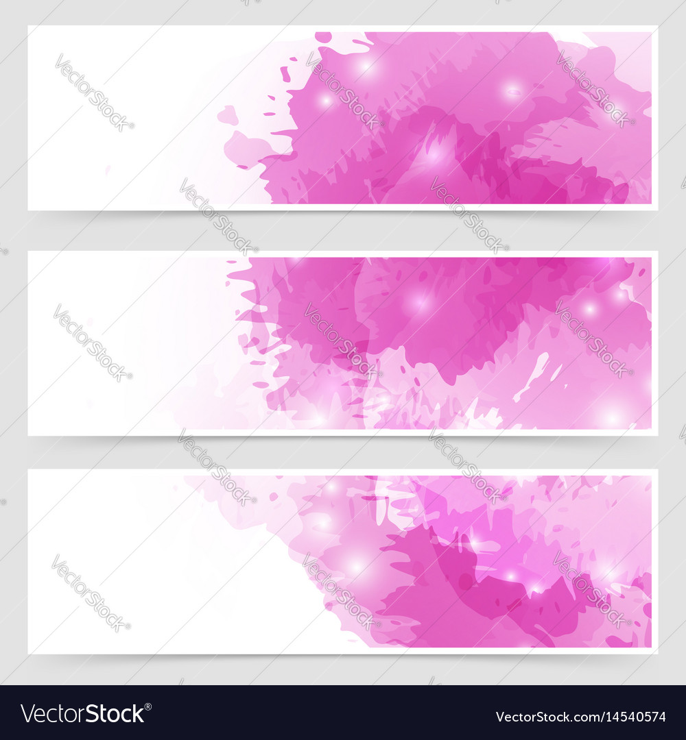 Modern art bright web header collection vector image