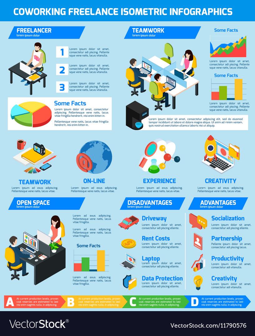 Freelance Infographic Set vector image