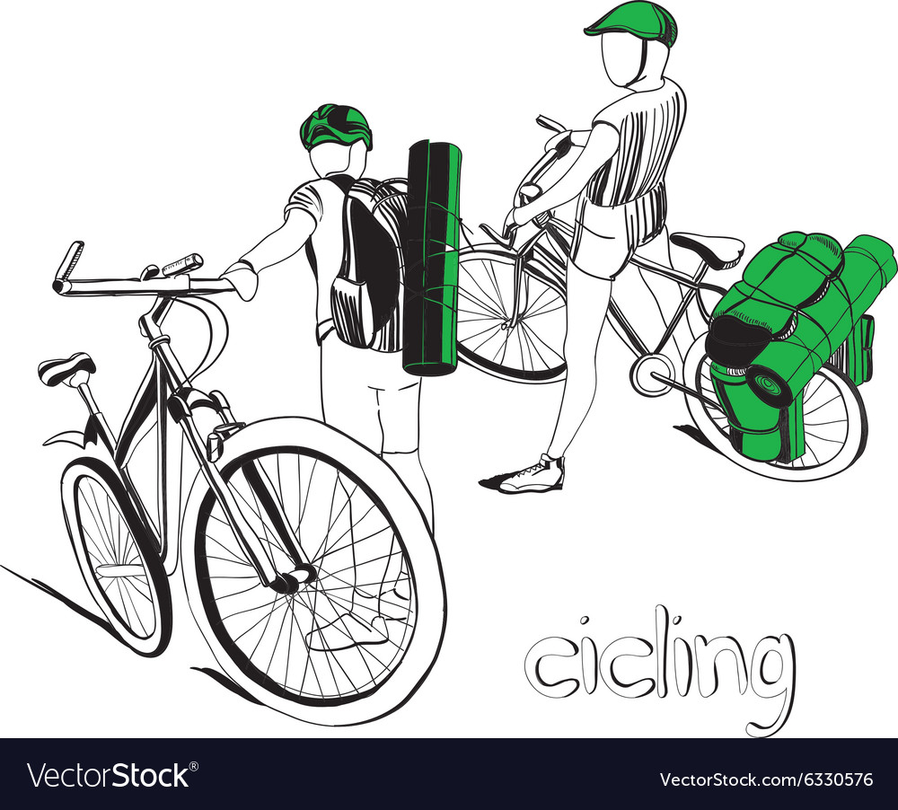 Graphic design of ciclists vector image