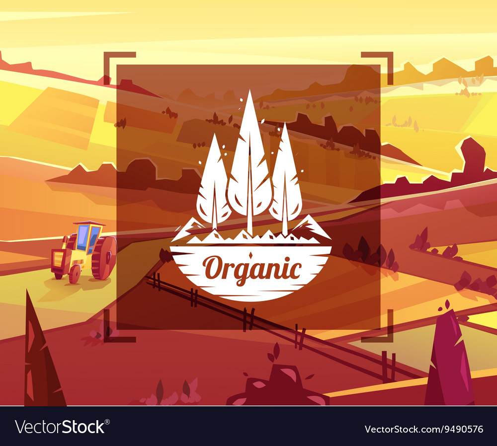 Organic typography design on background vector image
