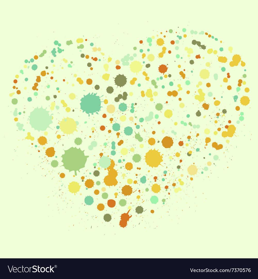 Splatter heart vector image