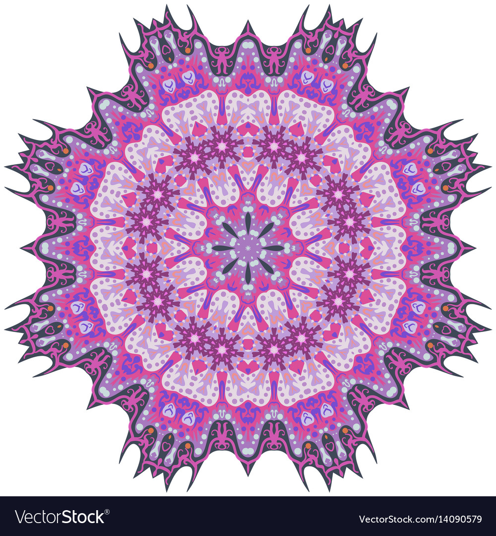 Purple mandala template for decorating vector image