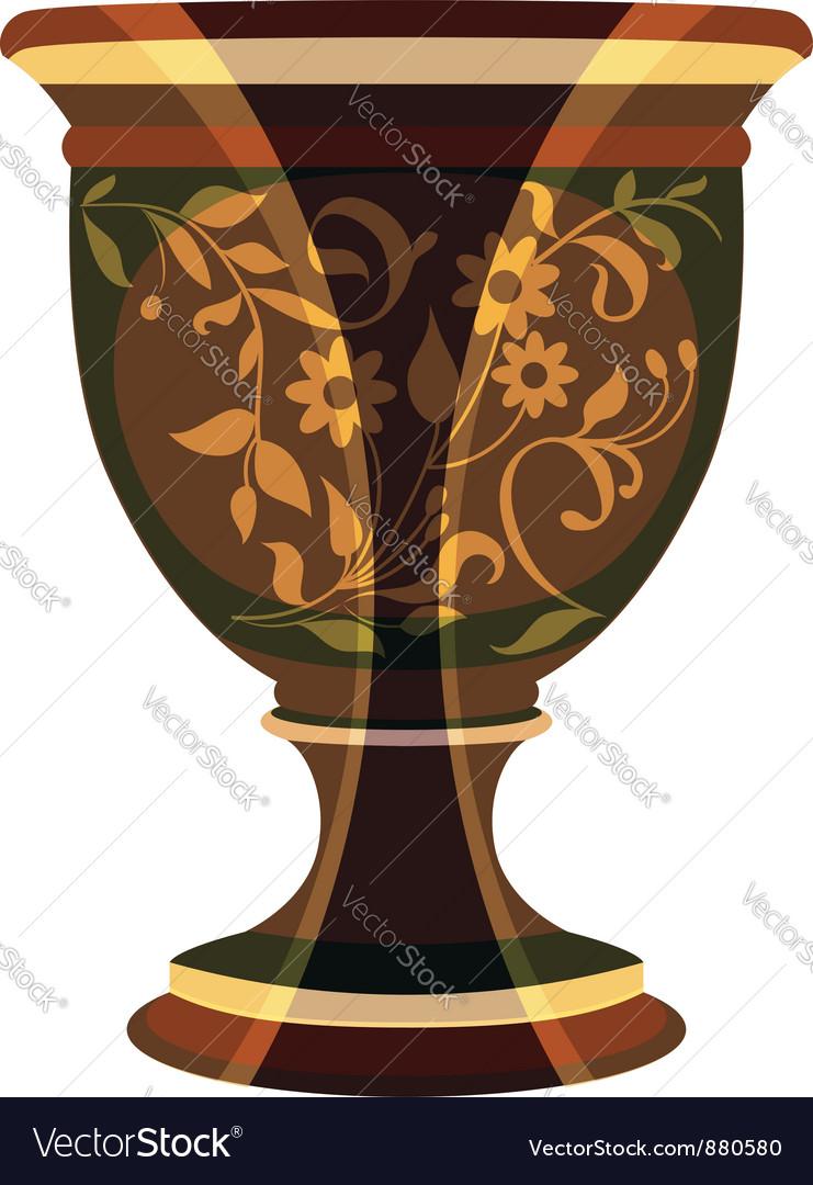 Flowerpot flower vase vector image