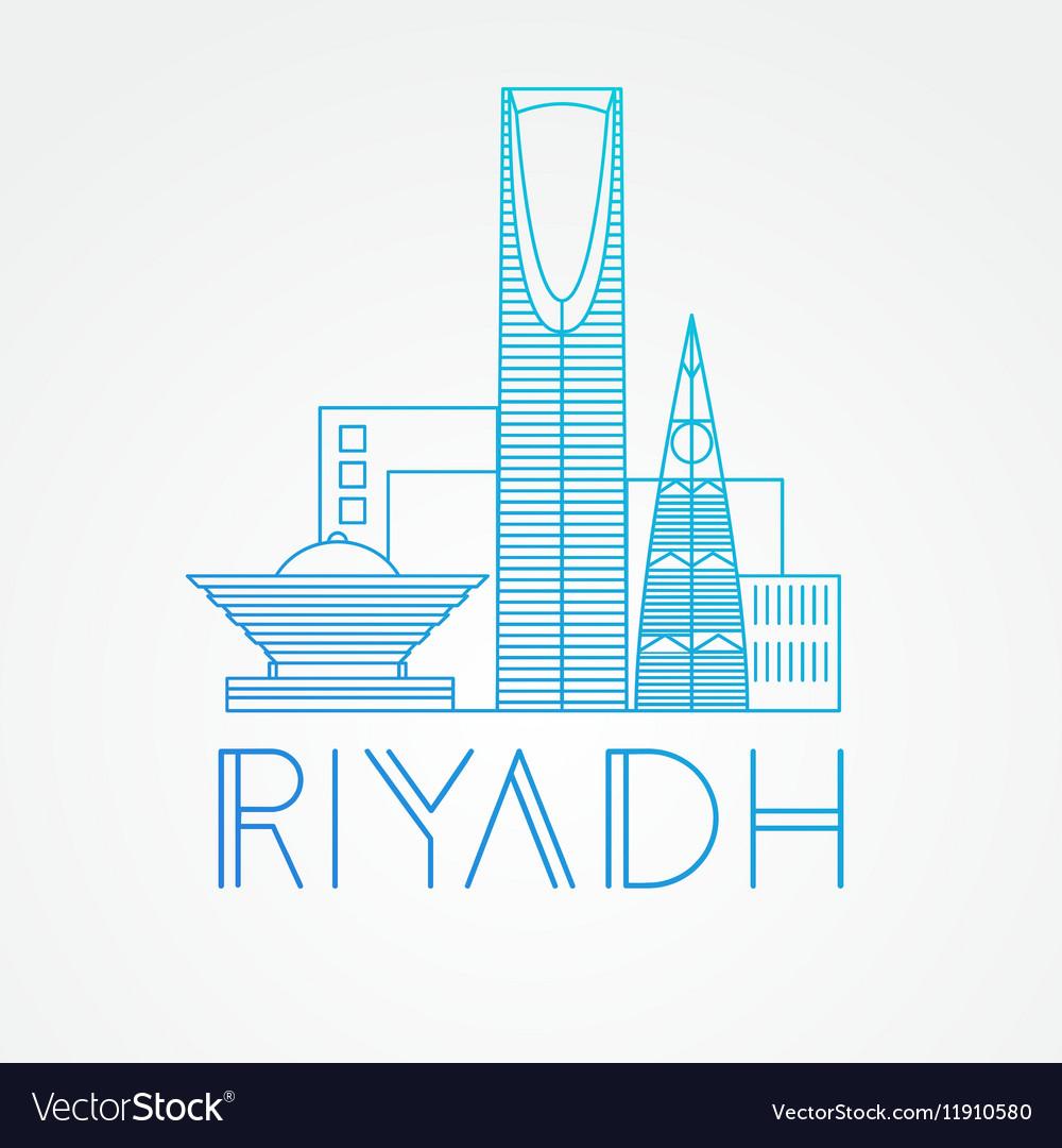 Kingdom tower the symbol of riyadh saudi arabia vector image biocorpaavc Gallery