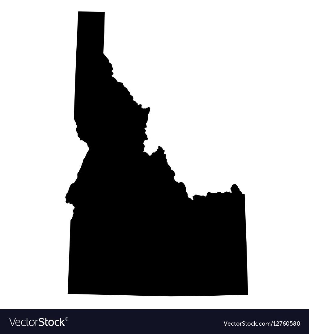 Map Of The US State Idaho Royalty Free Vector Image - Us map idaho