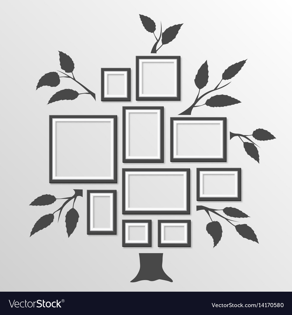 Tree with frames vector image