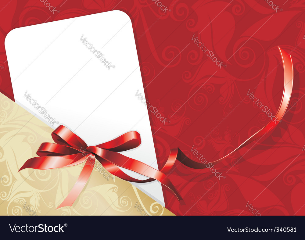Congratulatory card vector image