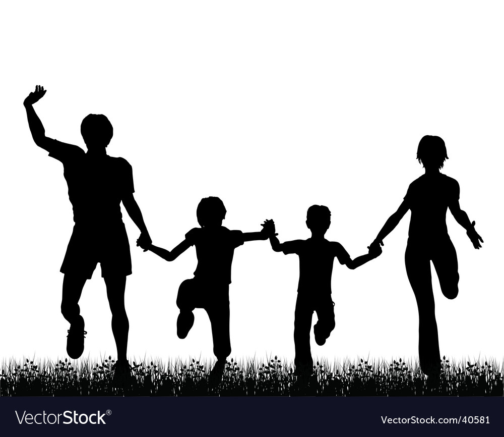 Family fun vector image