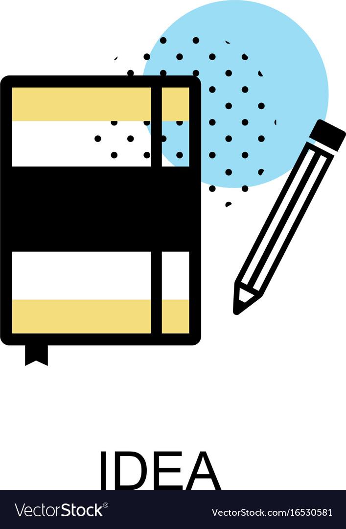 Idea book graphic icon vector image