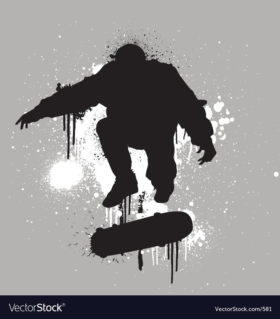 Stencil skater vector image