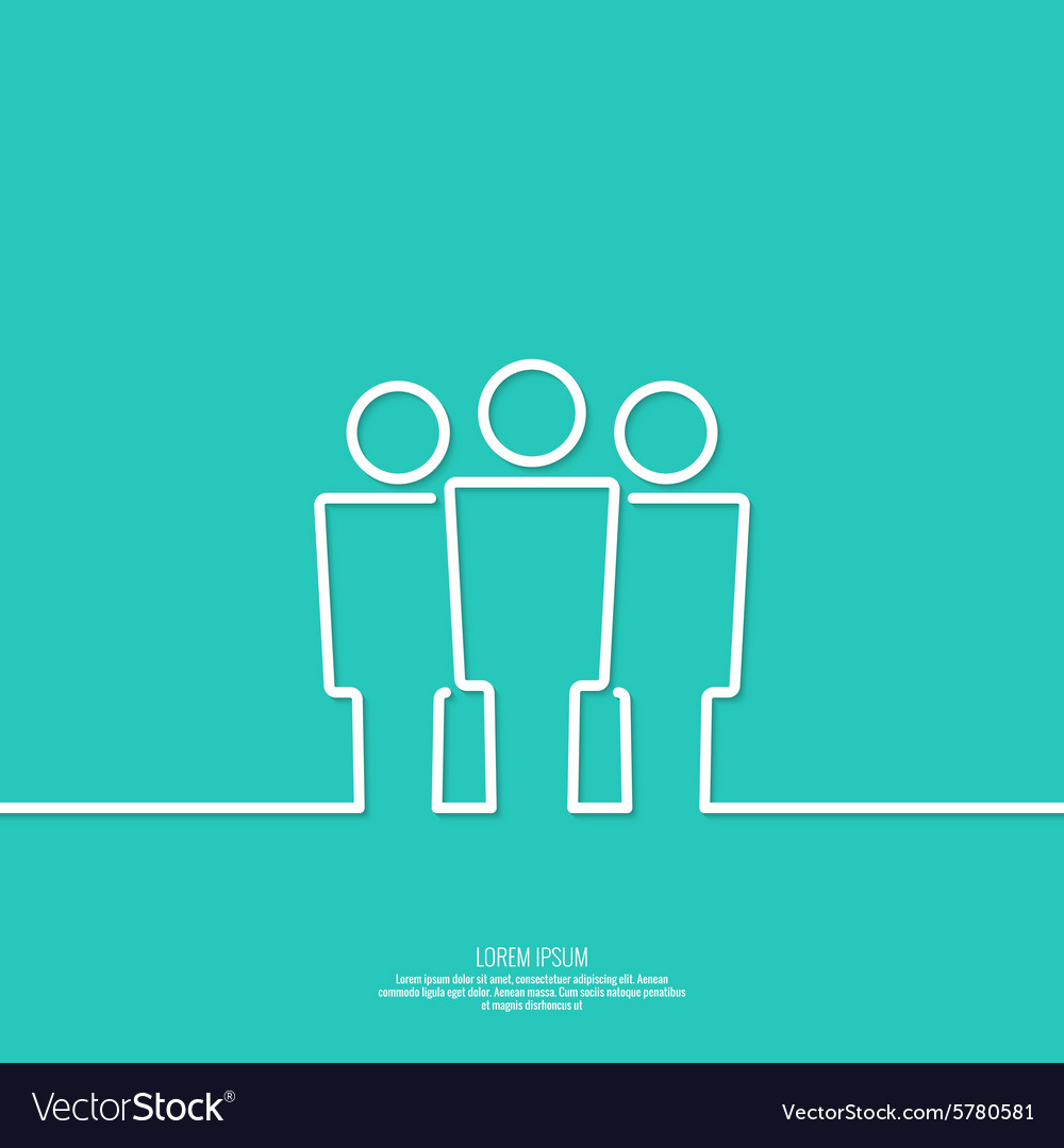 User group network vector image