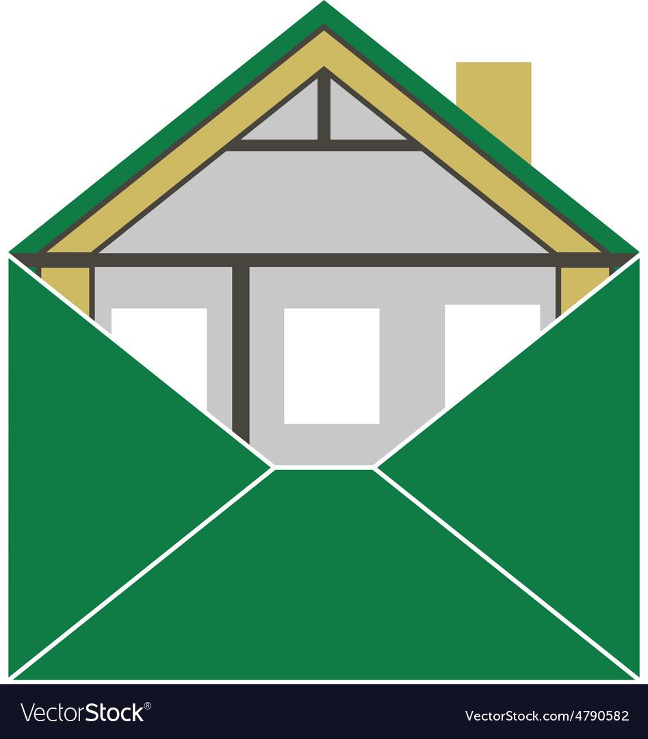 House Eco Green Building Envelope Energy Efficienc vector image