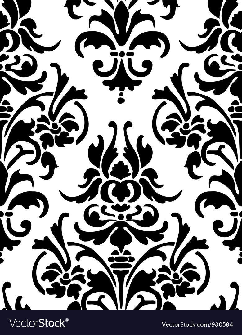 Damask wallpaper Royalty Free Vector Image VectorStock