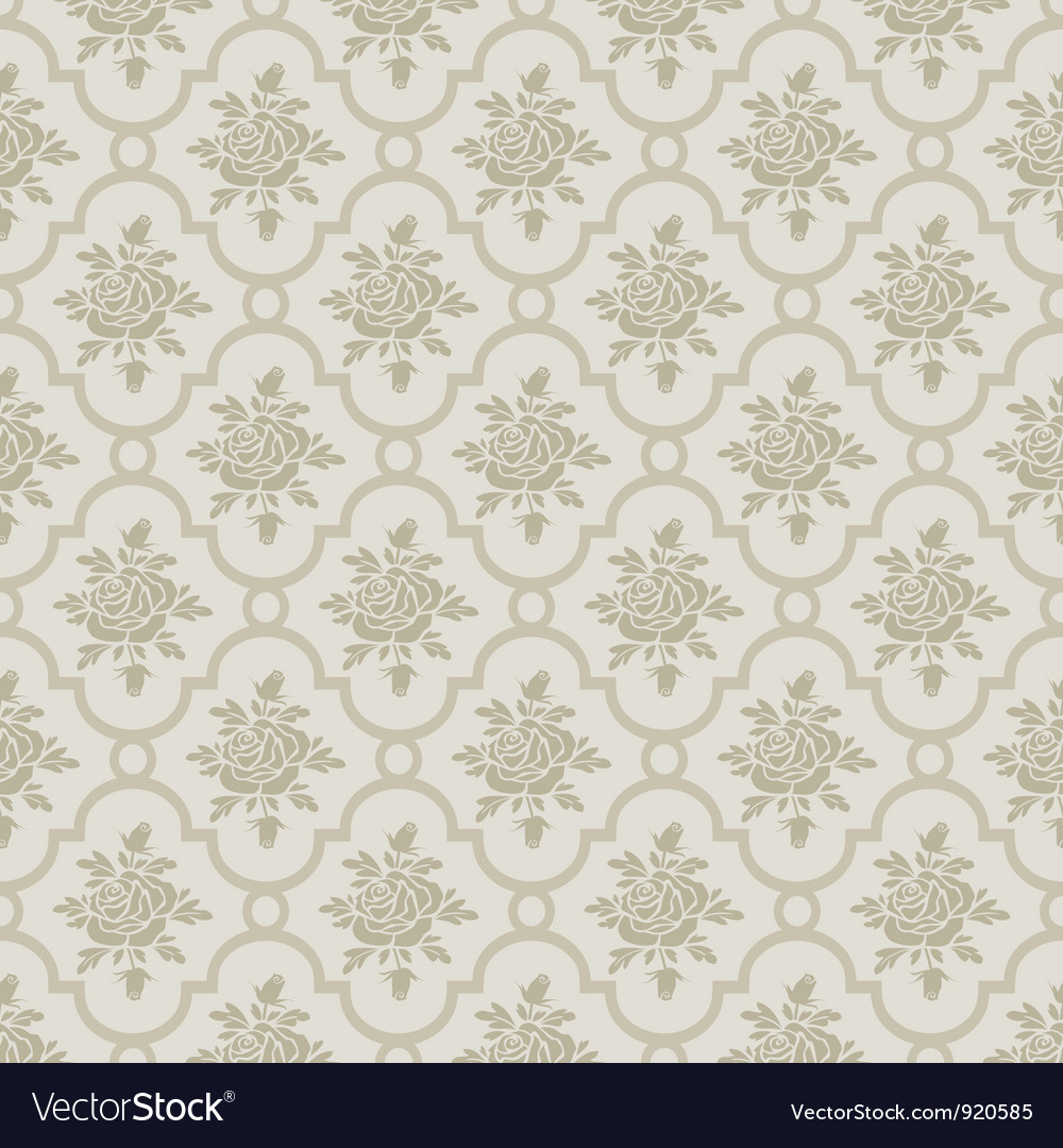 Pastel romantic roses seamless pattern vector image