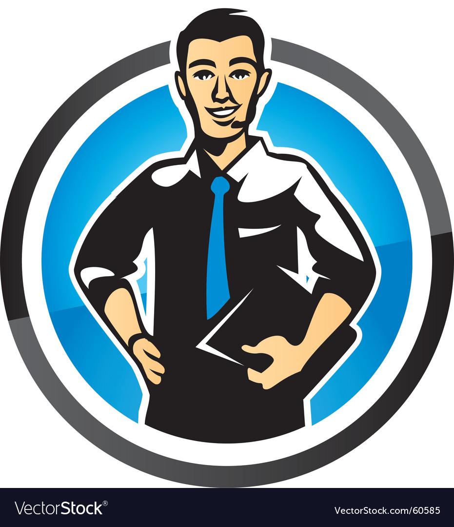 Salesman vector image