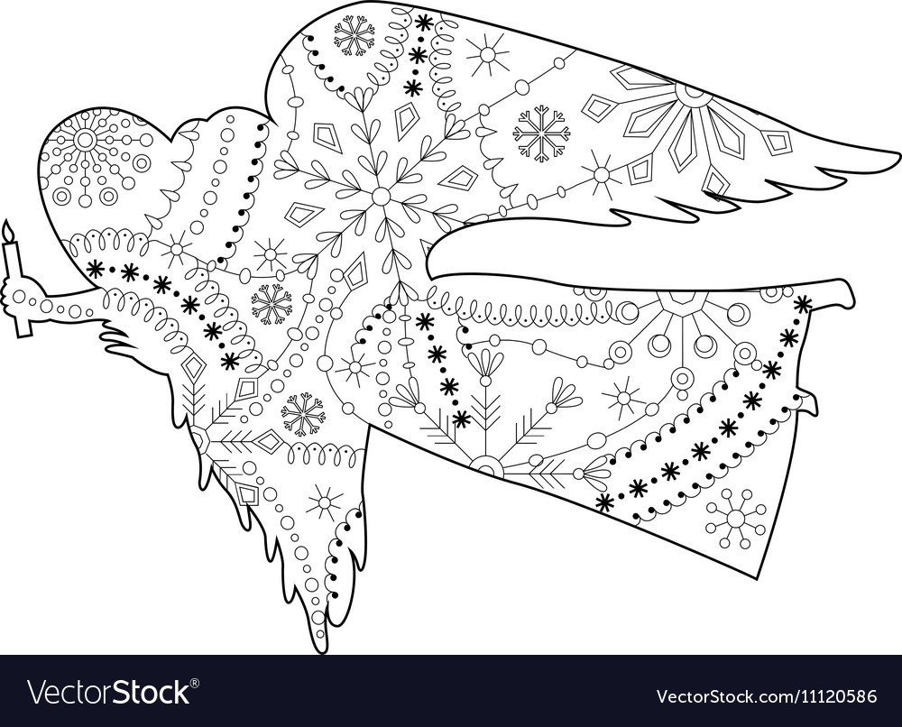 Angel coloring vector image