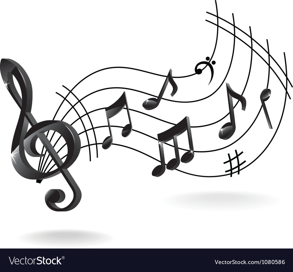 background with music note royalty free vector image