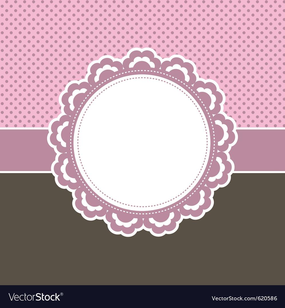 Girly frame vector image
