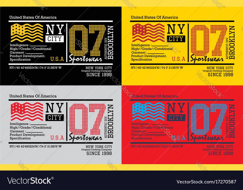 Brooklyn ny city sports vector image